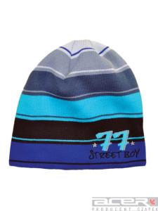 Zimowa czapka w paski