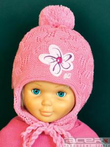 Różowa czapka dla dziewczynki