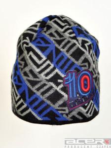 Zimowa czapka wzorzysta