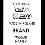 Przepis prania własny branding